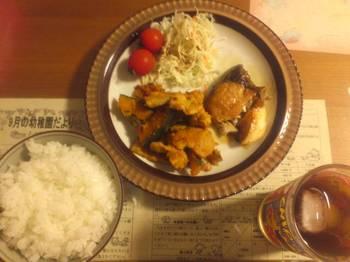 ぶり照りかぼちゃ豚肉炒め.JPG